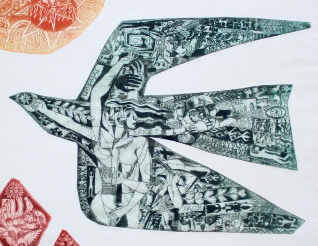 Ladislau Feszt: Peace Symbol, 1967 (detail)