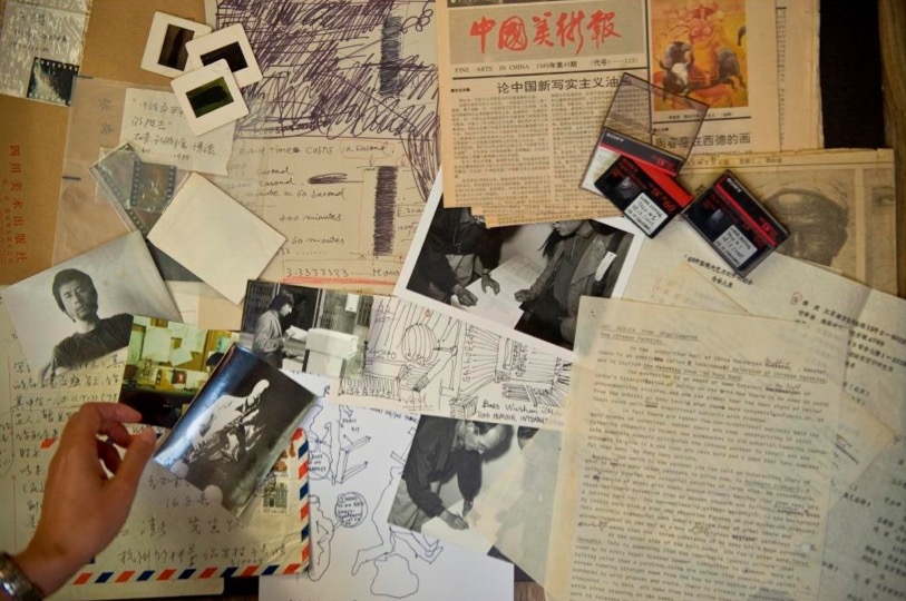 Archival materials collected as part of the project Materials of the Future: Documenting Contemporary Chinese Art from 1980-1990. Courtesy of Asia Art Archive.