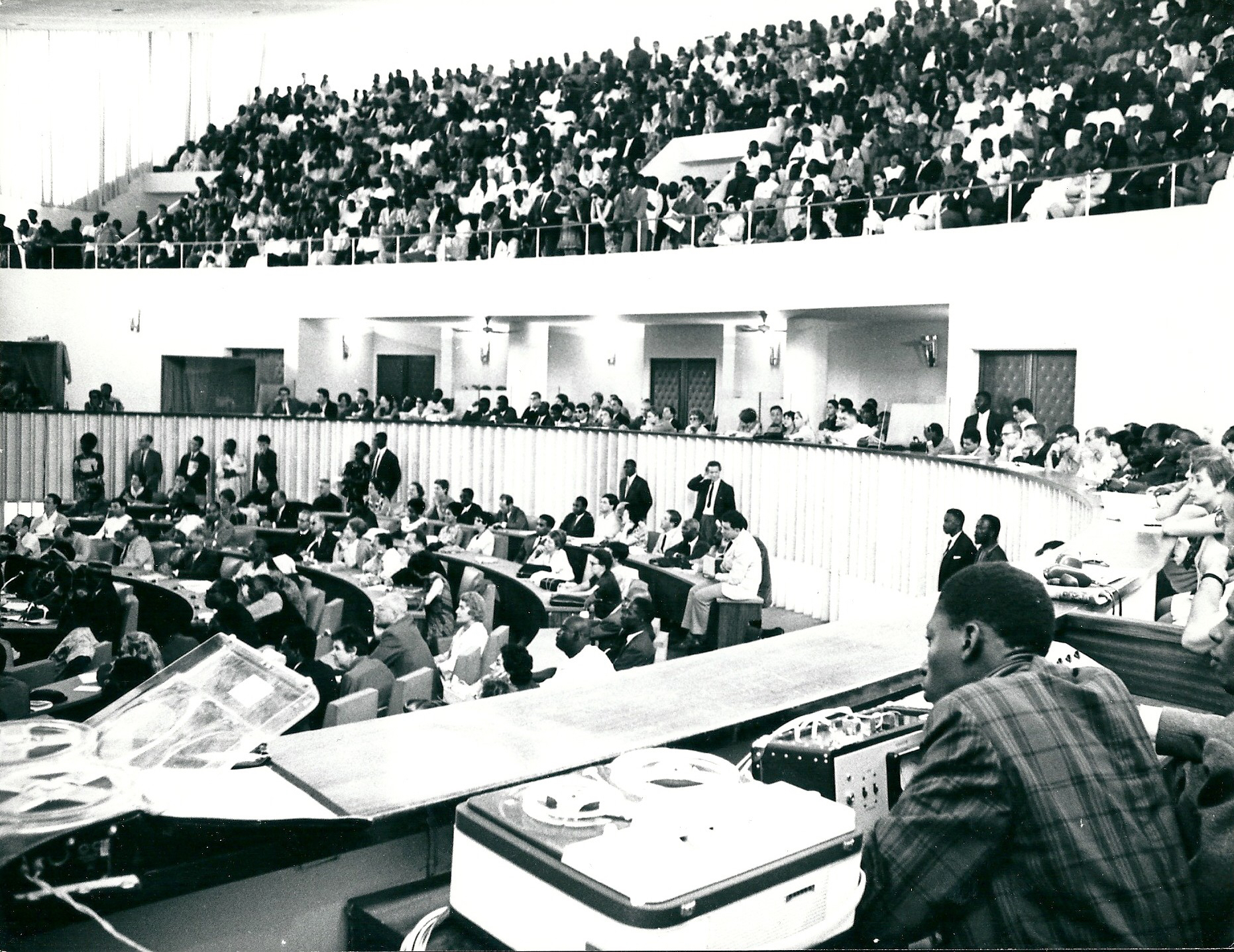 Colloquium held at the First World Festival of Negro Arts (Dakar, 1966).   Photo courtesy Jean Mazel / PANAFEST Archive