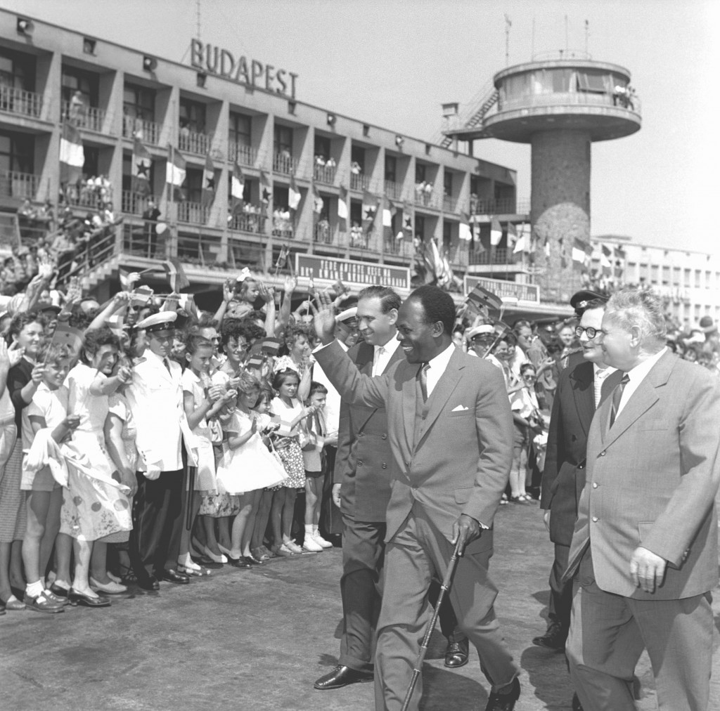 Ghanaian president Kwame Nkrumah in Budapest, 28 July 1961. MTI Photo: Jenő Pap. © MTVA.